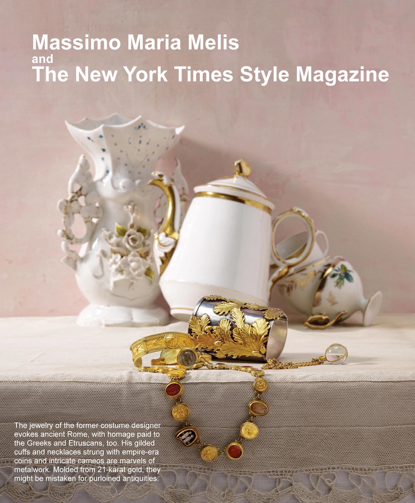 Massimo Maria Melis newyork times style magazine